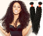 "3Bundles Brazilian Human Hair Extension 10""-30"" Natural Black Culry Wave 50g/pc"