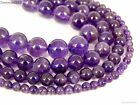 AAA Natural Amethyst Gemstone Round Beads 15.5'' 2mm 3mm 4mm 6mm 8mm 10mm 12mm
