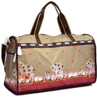 Featuring Fun Printing Nylon Duffel Bag Large Travel Bag with Shoulder Strap
