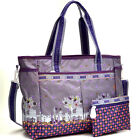 Nylon Fun Print Design Tote Bag Handbag with Shoulder Strap Small Organizer Bag