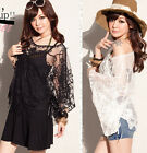 FD2101 Gypsy Women Lady Boho Sexy Sheer Lace Crochet Batwing Poncho Top Blouse