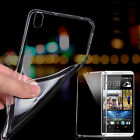 Ultra Thin Slim Soft Clear Transparent Silicone Case Cover Skin For HTC Phones