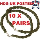 10X PAIR BRITISH ARMY TROUSER TWISTS TWISTERS ELASTIC LEG TIES BUNGEE TA CADET