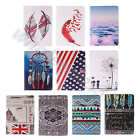 1×For iPad Samsung Tablet Fashion PU Leather Card Wallet Stand Folio Case Cover