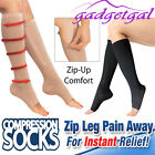 One Pair ZIP ZIPPERED COMPRESSION SOCKS Varicose Veins Flight & Travel Miracle