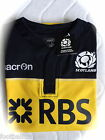 L XL XXL SCOTLAND MACRON RUGBY TRAINING SHIRT jersey Yellow / Navy NEW TAGS