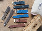 20mm Vintage look handmade genuine Italian leather watch strap, band fit Rolex