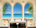 Photo Wall Mural OCEAN VIEW 280x200 Wallpaper Holidays Sea Water Relax Palm