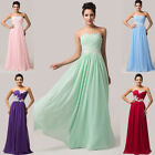 Cheap!! Chiffon Long Formal Evening Party Ball Gown Bridesmaid Prom Dresses 6-20