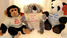 *SALE* Personalised Animal Teddies, Wedding Favour, Valentine's Day. NAME ONLY.