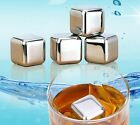 8pcs1/2/4/6/Stainless Steel Glacier Rocks Neat Ice Cube Drink Whiskey Stones