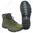 OLIVE GREEN Military SQUAD Boots - All Sizes Army Combat Style Mid Height Shoe