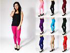 Women Ladies Full Length Leggings Pants High Waist Trousers Stretchy Size 6-14