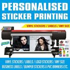 Custom Vinyl Printed Stickers decals labels anyshape waterproof Printing Service