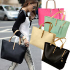 New Lady Women PU Leather Handbag Shoulder Bag Tote Satchel Messenger Hobo Bag