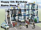 Lego City Police edible icing cake toppers. Personalise for your occasion!