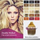 Double Wefted Full Head Clip in Remy Human Hair Extensions