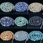 Mutil-Color Facted Crystal Quartz Beads 8'' 5x8mm 6x10mm 8x12mm