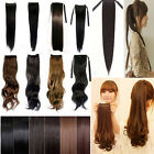 WRAP AROUND PONYTAIL Hair Extension HairPiece Clip In Synthetic as human hair