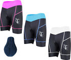 Ladies Cycling Shorts With Coolmax Padded MTB  Bike Padding S-M-L-XL