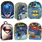 Kids Superhero Batman Superman School Bag Rucksack Backpack Brand New