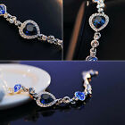 New Hot Sale Fashion Women Ocean Crystal Rhinestone Heart Bangle Bracelet Gift