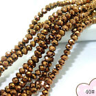 200pcs Faceted Glass Jade Crystal Charms Rondelle Loose Beads 3mm 80 Color