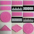 Lace Silicone Baking Decorating Mold Cake Sugar Craft Fondant Mould 10 Styles