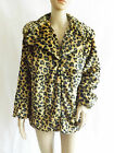 WOMEN'S ADORE LEOPARD PRINT FAUX FUR JACKET VARIOUS SIZES