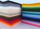 FAT QUARTER 100% Pure Cotton Plain Fabric Solid Colours for crafts and quilting