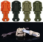 "Mini pocket knife molle 1"" webbing self defense EDC multi tool stainless steel"