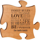 """Personalized  """"Family Rules Try New Things Give Hugs Love Laugh At Yourself Hel"""