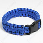 Blue PARACORD WRISTBAND Survival Camping Hiking Cord Bracelet - All Sizes
