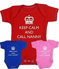BabyPrem Baby Clothes KEEP CALM NANNY Creeper One-Piece Shower Creeper Funny