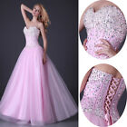 Long Beaded Princess Cocktail Festival Formal Prom Party Pageant  Wedding Dress