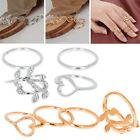 4pcs Fashion Gold Plated Rings Set Plain Above Knuckle Band Midi Ring Gifts