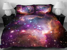 Galaxy Bedding Set Purple Red Galaxy Duvet Cover Bed Sheet 2 Pillow Cover HG1827