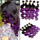 "Bundles 100g/pc Ombre Brazilian Hair Extension 10""-30""  Body Wave Remy Hair"