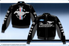 Ford Mustang Collage Mens Black Cotton Twill Authentic Licensed Jacket-JH Design