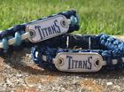 Tennessee Titans Paracord Bracelet w/ NFL Dog Tag and Metal Buckle. AWESOME!!! on eBay