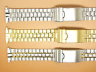 S/Steel Two-Tone Gold Plated Watch Strap Bracelet, 16mm 17mm 18mm 19mm 20mm 21mm