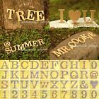 "Wood Wooden Capital Letter Number Alphabet Bridal Wedding Party Decor 10cm 4""New"