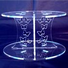 Butterflies Acrylic Pillars Wedding & Party Cake Separators / Stands. Many Sizes