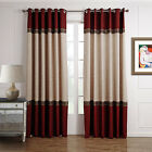 3QMart 2 Panels Eyelet Ring Top Luxury Blackout Gromment Window Curtain Drapes