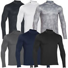 Under Armour 2015 ColdGear Long Sleeve Mock Mens Shirt Golf Base Layer - Fitted
