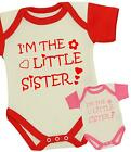 BabyPrem Baby Girls Clothes LITTLE SISTER Bodysuit Vest One-Piece Shower Gifts