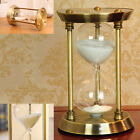 15/30 Minutes Metal Bronze Sand Glass Timer Hourglass Sandglass Home Decor Gift