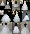 New 9 Styles Bridal Wedding Dress Petticoat Underskirt Hoop Short Crinoline