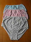2 or 3 prs Ladies *M+S* Cotton Full Briefs,Pants,Knickers Pink or Floral size 16
