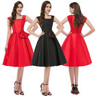 Red Bla Lady Vintage Swing Housewife Dress 1950's Rockabilly Cocktail Dress S~XL